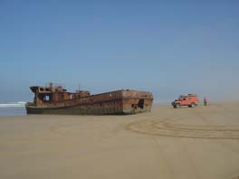 wreck on Plage Blanche