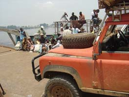 a candid shot of the ferry to Kinshasa